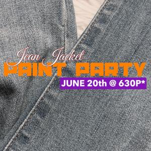 JEAN JACKET Paint Party @ Fairmount Grille