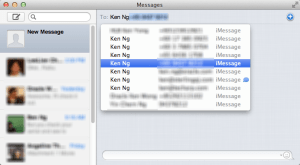 Apple Messages Chat Window