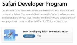 Safari Developer Program