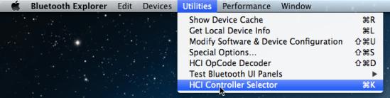 Go to Utilities -> HCI Controller Selector
