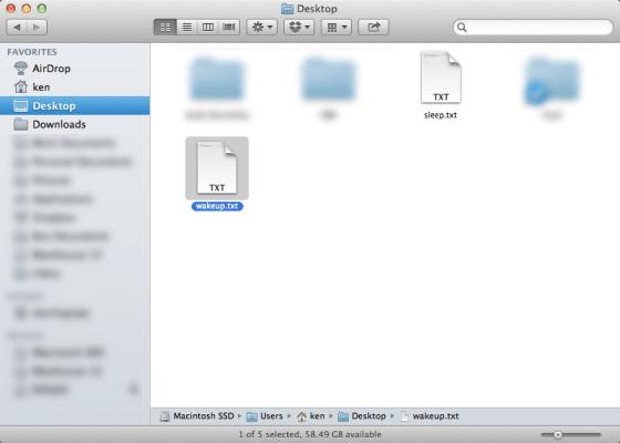 The sleep and wakeup scripts on the Desktop