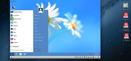Parallels Desktop 9 for Mac - Windows 8 Start Menu