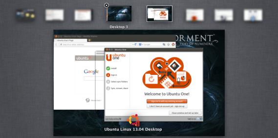 Unity menu and Ubuntu apps in different Desktops
