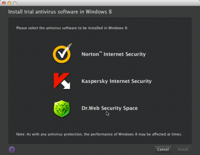 Installing a trial antivirus software