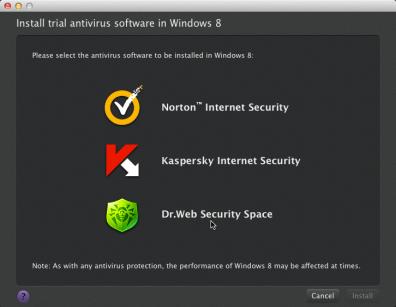 Installing a trial antivirus software