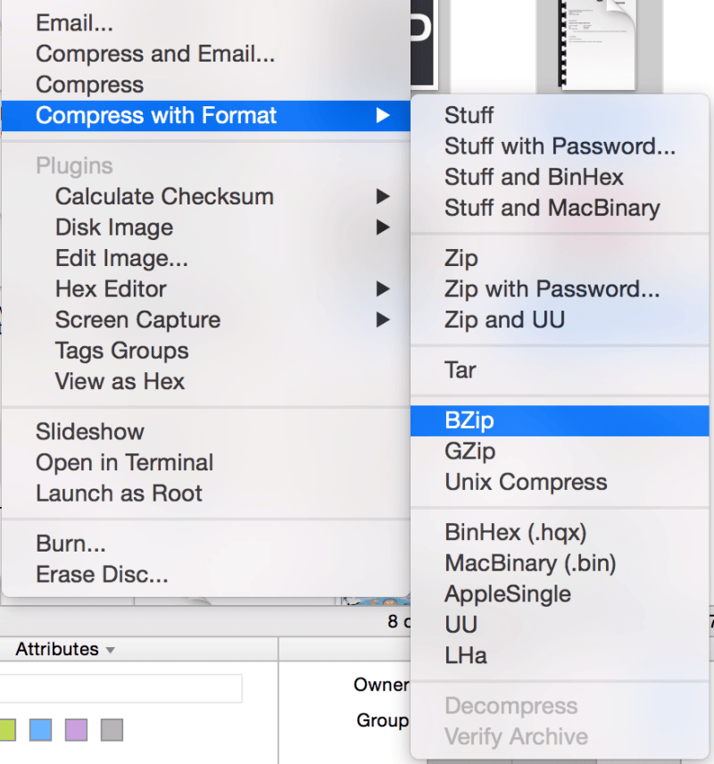 Compress formats
