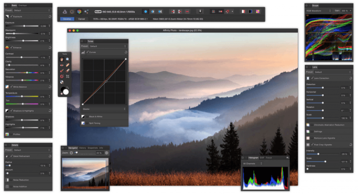 Develop your RAW photos with Affinity Photo's RAW Persona