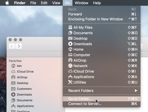 FInder's Go To Folder option
