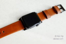 Nomad Horween Leather Strap on the Apple Watch