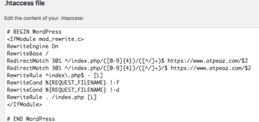 Updating the htaccess file