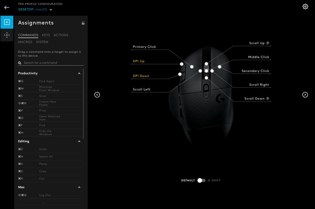 Customising the Logitech G604 on G HUB