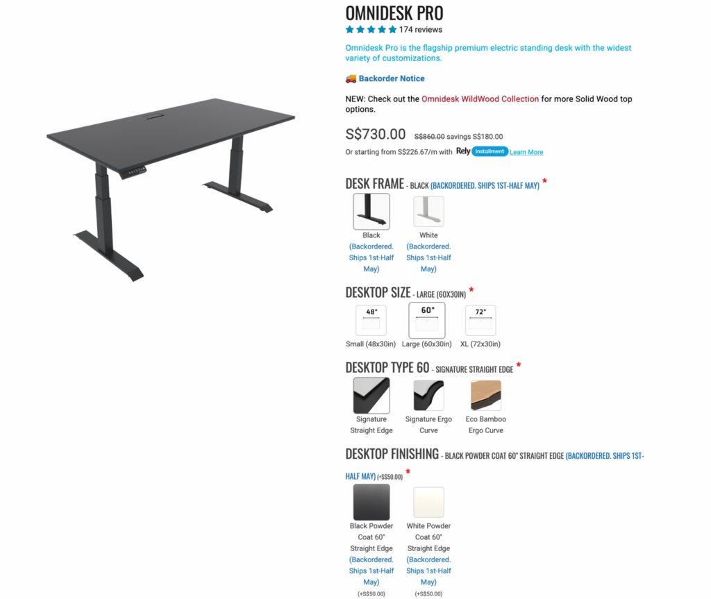 Omnidesk website order page
