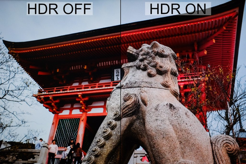 Comparing HDR mode on and off on the LG 27UL600-W