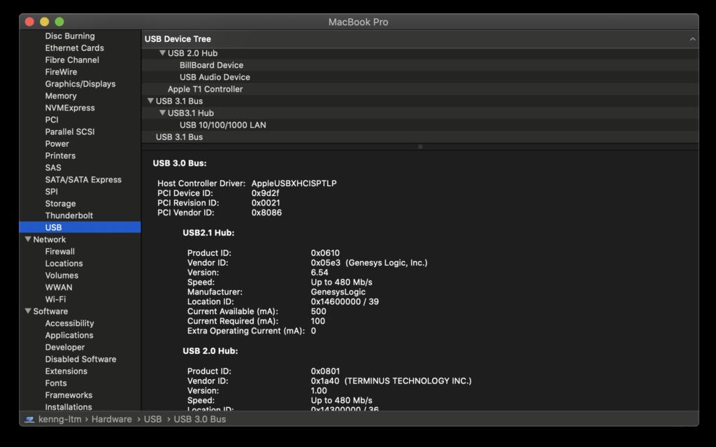 Baseus Armor Age Type-C - Razer Core X on Thunderbolt 3 port - No USB devices