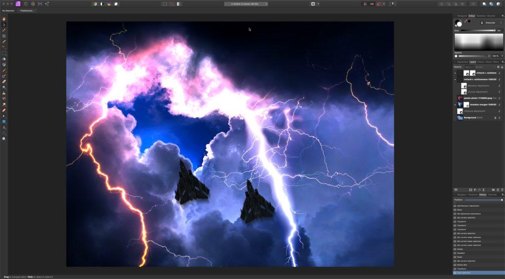 Photo editing on Affinity Photo with eGPU acceleration