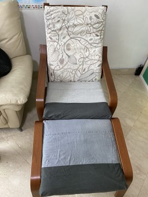 DIY IKEA POÄNG cushion cover!