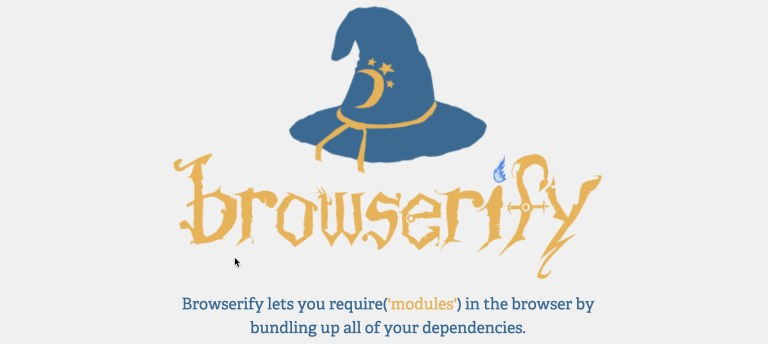 browserify.org banner
