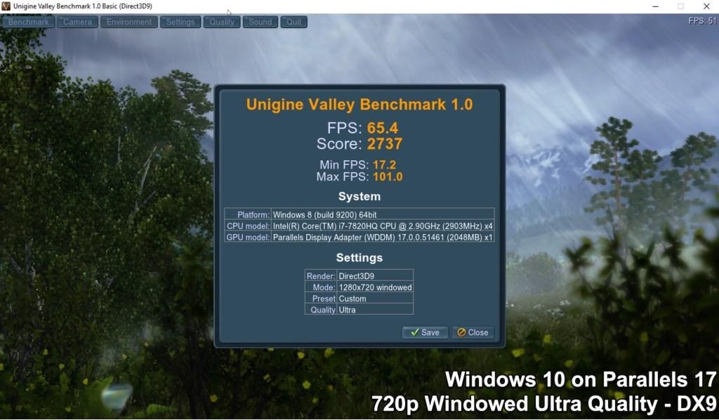 Unigine Valley Benchmark - Windows - Windowed Ultra Quality - DirectX 9