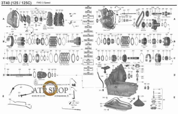Трансмиссия 3T40 | Интернет-магазин автозапчастей