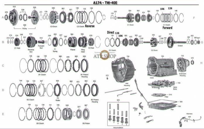 ZF 4HP22 6HP26 5HP19 5HP24 5HP30 TRANSMISSION SERVICE