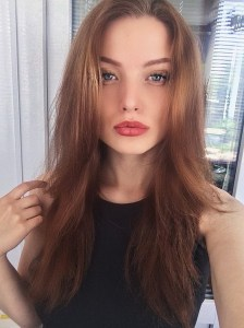 blue-eyed Ukrainian woman from city Kiev Ukraine