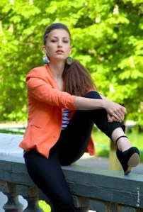 modern Yaroslava Ukrainian girl from city Krasnui Lych Ukraine