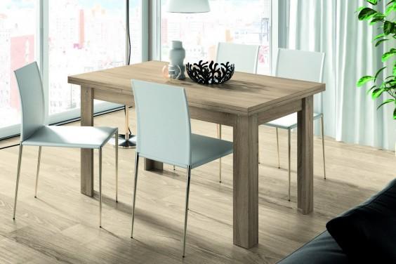 Mesa de comedor rectangular LOGAN extensible en color