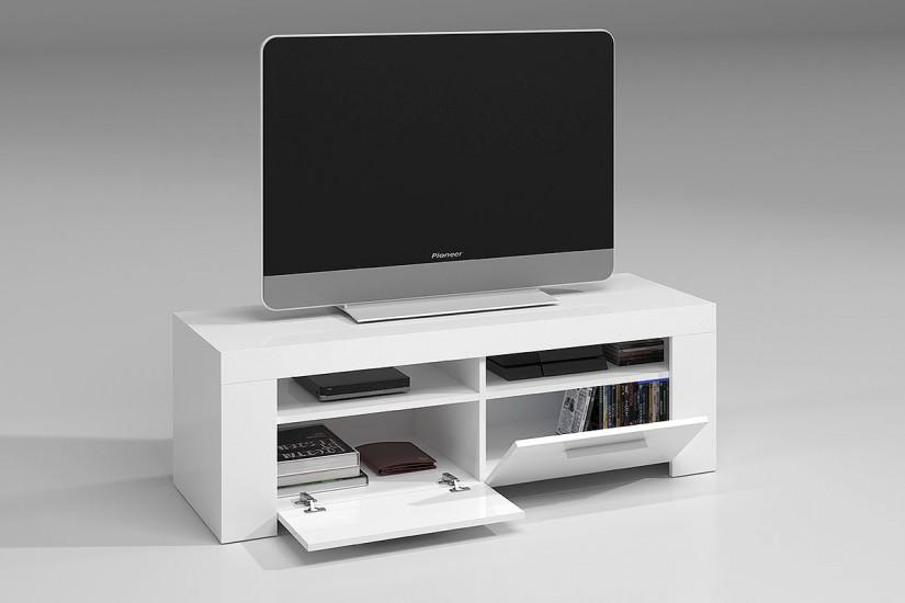Mueble saln TV AMBIT color Blanco al MEJOR PRECIO