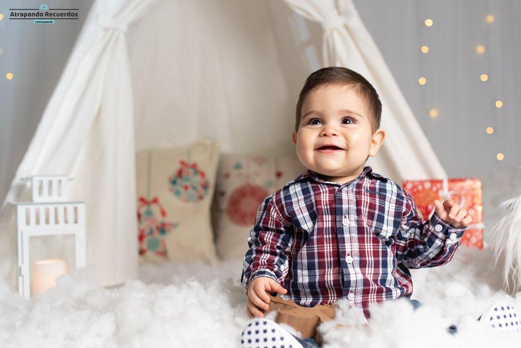 Sesión navideña para bebés en Bilbao
