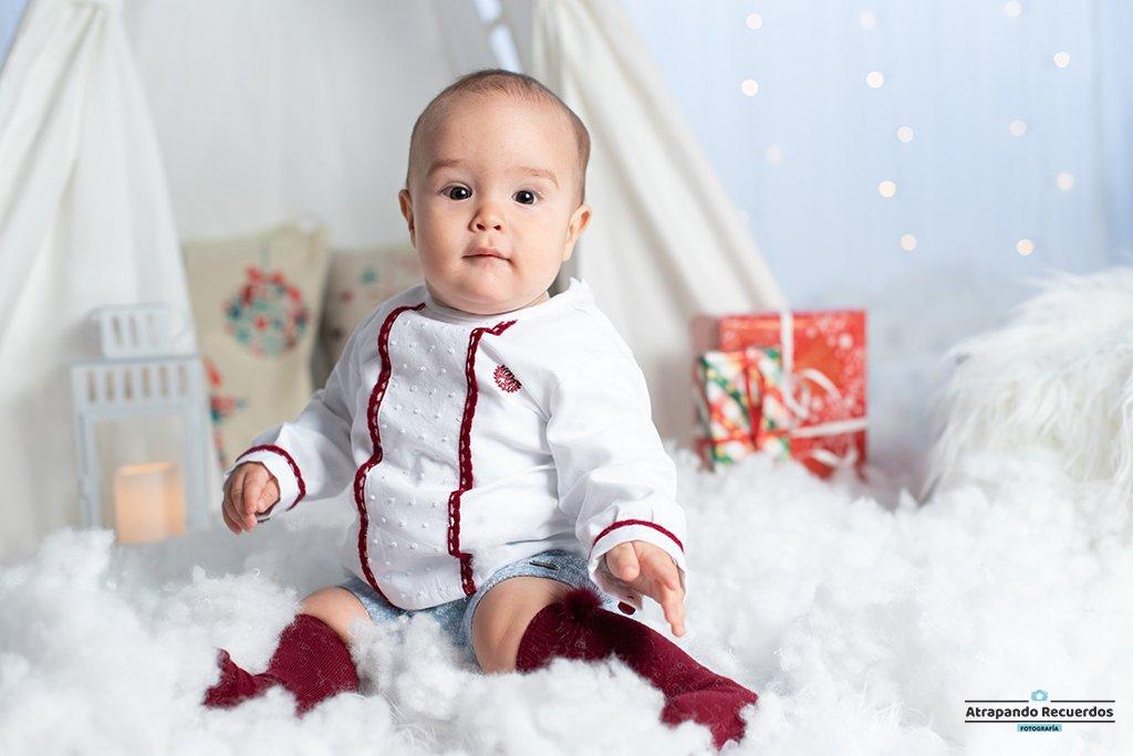 Fotos de Bebé sesión de navidad