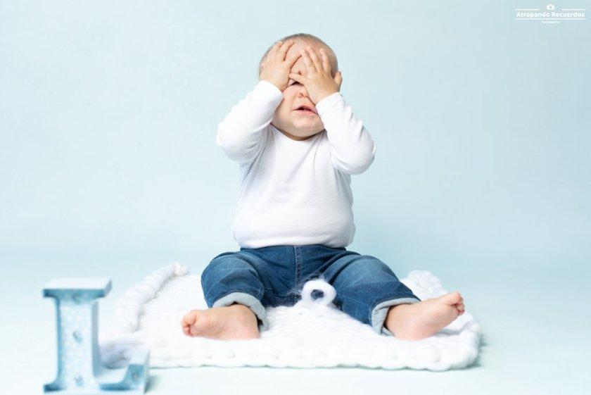 Fotos de bebes mellizos en estudio en Bilbao