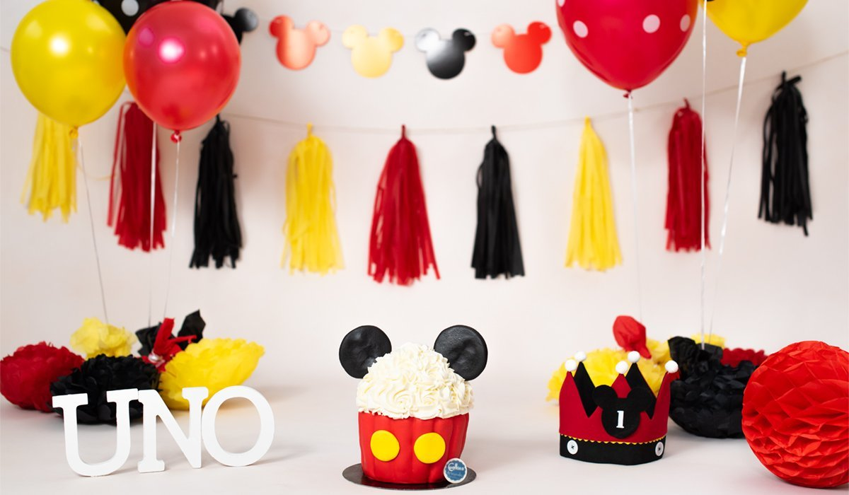 smash cake bilbao mickey mouse decorado