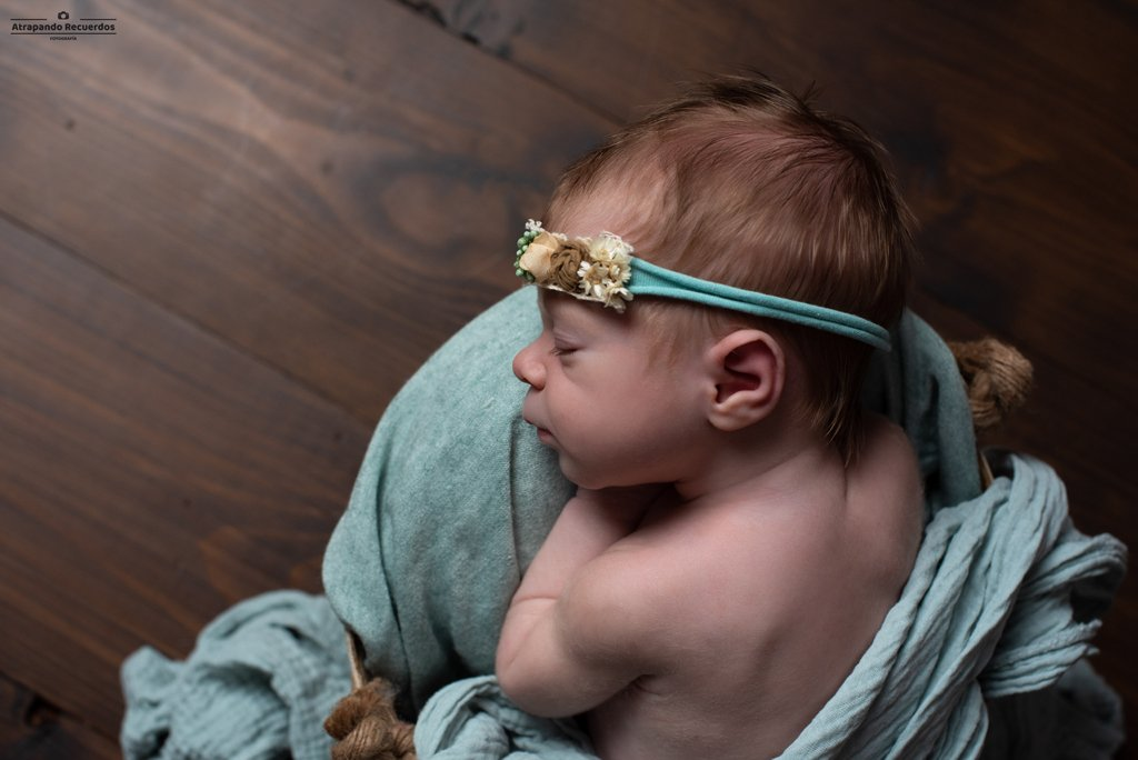 sesion fotos newborn bilbao diadema rustico