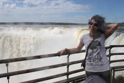 Natureza impressionante nas cataratas do Iguaçu