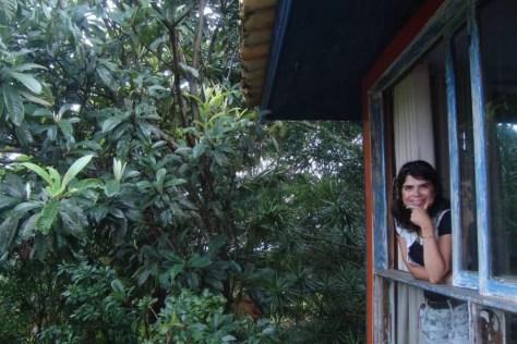 A mata Atlântica me dando boas-vindas na pousada Casa do Céo, Praia do Rosa/SC