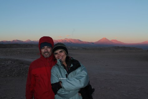 Por-do-sol no Deserto do Atacama