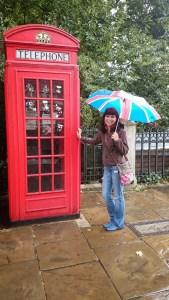 Cabine telefônica típica de Londres