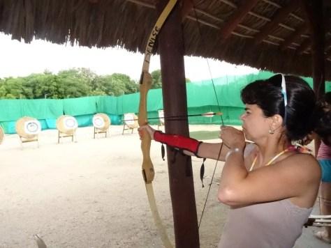 Tiro com arco no Club Med Punta Cana