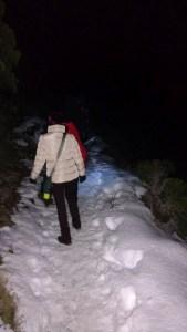 Caminhada noturna na neve, Bariloche