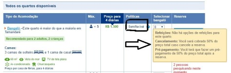 Cancelamento semiflexivel do Booking