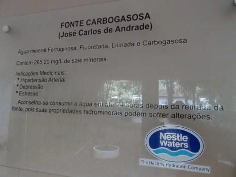 Fonte Carbogasosa do Parque das Águas de Tiradentes