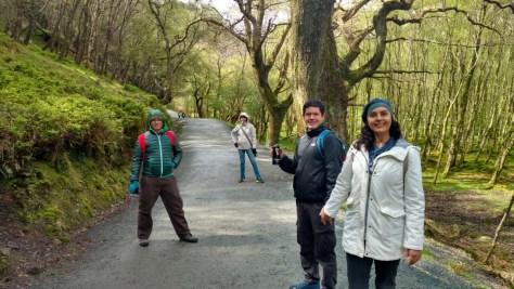 trilha para o Upper Lake, Glendalough, Irlanda