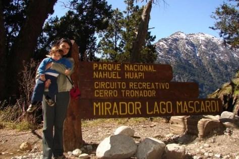 Caminho para o Cerro Tronador, quando só tínhamos o Arthur, em 2006