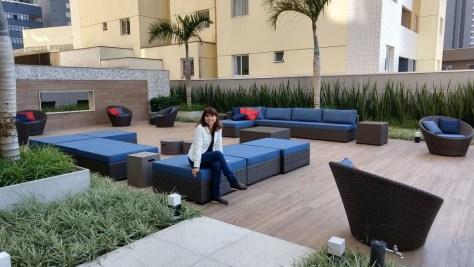 Lounge do Adagio Apart Hotel Curitiba