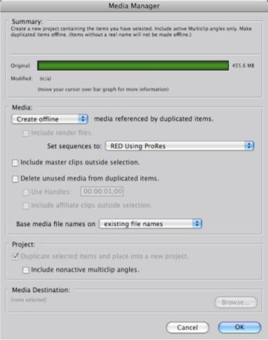 Utilisation des fichiers RED avec Final Cut Studio, le