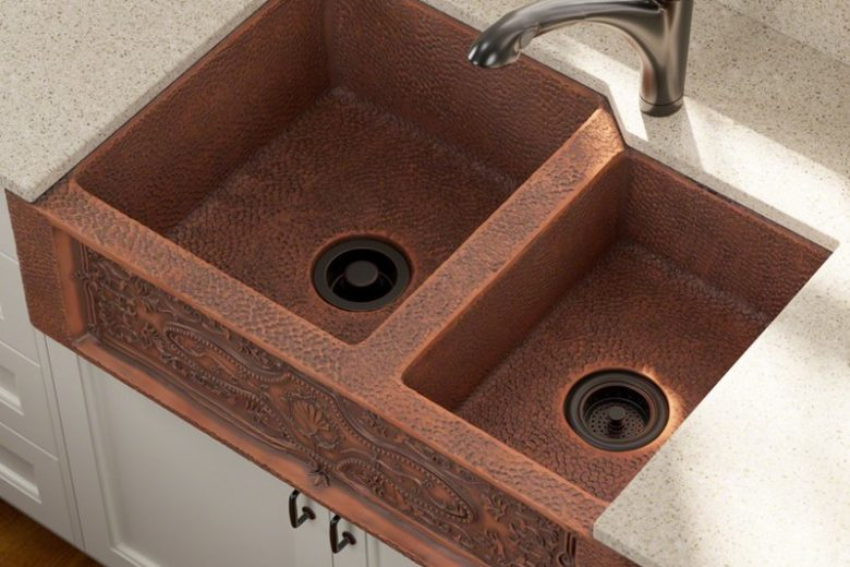 copper kitchen sink pegasus faucet sinks need to knows a tremendous home aproned farmhouse double
