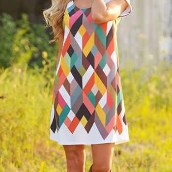 Shift Dress Geometric Patterns Dresshead