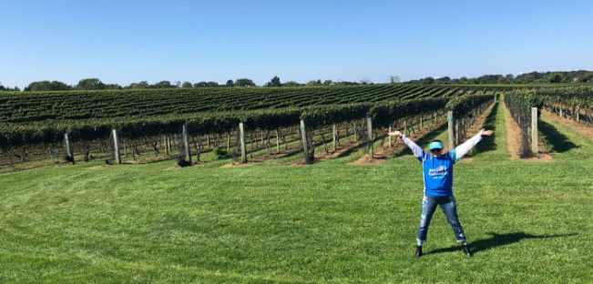 After the Hamptons Half Marathon at a winery