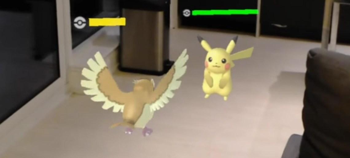 Pokelens, batallas Pokemón para Hololens
