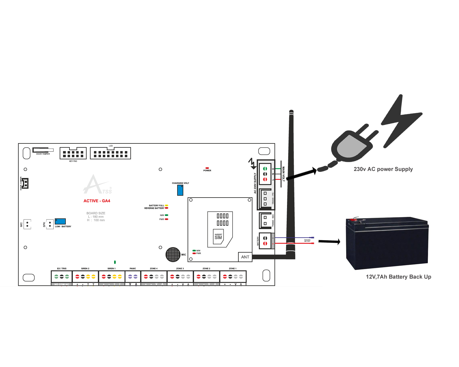 Intrusion Alarm System Power Supply